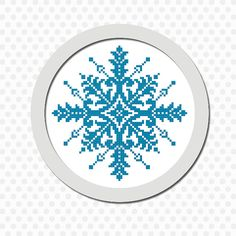 Snowflake counted cross stitch pattern  by LynnBsCountryCottage