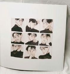 Aesthetic Art, Aesthetic Anime, Art Sketches, Art Drawings, Exo Fan Art, Drawn Art, Korean Art, Art Hoe, Cute Illustration