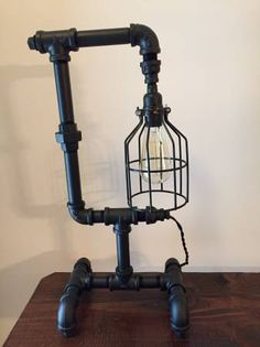 iron pipe lamp