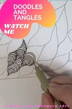 Doodle Art Designs, Easy Doodle Art, Doodle Art Drawing, Zentangle Drawings, Mandala Drawing, Doodle Patterns, Zentangle Patterns, Zentangles, Art Drawings For Kids