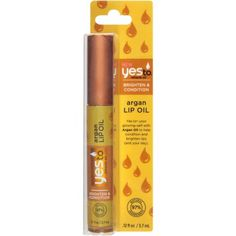 Yes to Miracle Oil Brighten & Condition Argan Lip Oil, .12 fl oz
