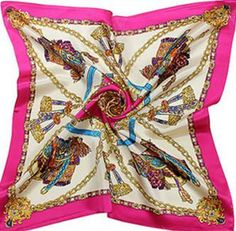 Beautiful 100% pure Silk fashion scarf. 20.8 x 20.8 inches. – Today Finds