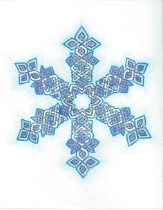 Blue Celtic Knot Snowflake