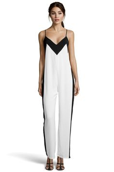 boohoo Boutique Leandra Strappy Wide Leg Illusion Jumpsuit - ivory £30.00 by sara lario