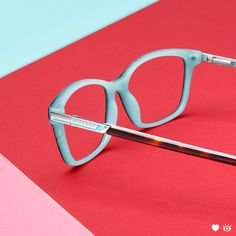 00fc07b6010 Add some playful color to your style in these rectangular Havana Aquamarine  Ralph by Ralph Lauren frames.