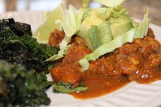 Paleo Chicken Mole via Everyday Paleo. I've made this before, and it's so rich and delicious.