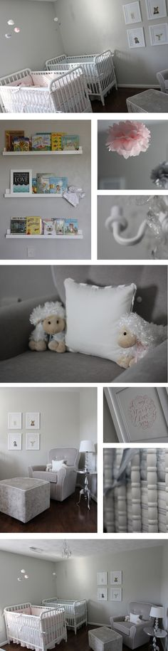 Our finished nursery for our boy/girl twins!  #twins #nursery    http://www.whitneyanderick.com/?p=6076
