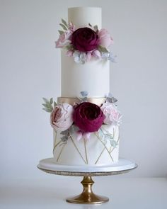 Love the look of this wedding cake