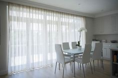 bifold door voile curtain ideas - Google Search