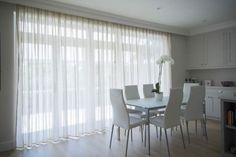bifold door voile curtain ideas - Google Search