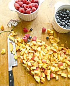 Summer Peach + Berry Trifle in Mason Jars— Miss Molly Vintage