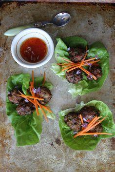 Lemongrass Pork Meatball Lettuce Cups by Heather Christo, via Flickr