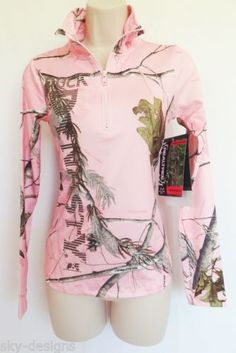 Duck Dynasty Realtree Pink Camouflage Camo Pullover Performance Jacket Womens M