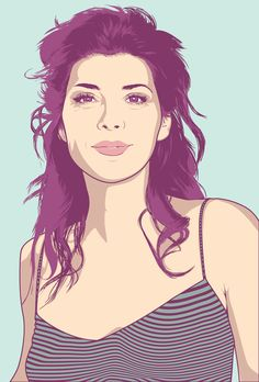 illustration portrait - marisa tomei