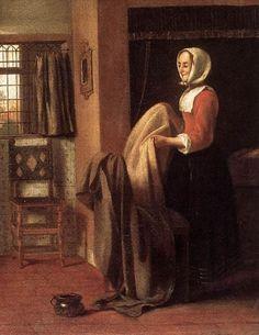 Pieter De Hooch .The Bedroom (деталь)