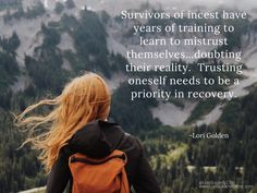 222 Survivors of incest have years of training to learn to mistrust themselves…doubting their reality. Trusting oneself needs to be a priority in recovery. Get help. Get My House of Lies, a book by supports recovery and healing Survivor Quotes, Abuse Survivor, Lyric Quotes, Lyrics, Family Of Origin, Trauma Therapy, Healing Quotes, Emotional Abuse, Forgive