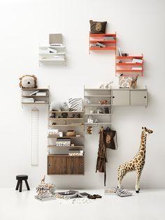 Cosy Bedroom, Dream Bedroom, Shelf Furniture, Kids Furniture, System Furniture, Metal Shelves, Wall Shelves, Open Shelves, String Pocket