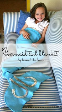 a DIY mermaid blanket that can be made in an hour