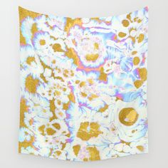 Grace #society6 #decor #buyart #marble Wall Tapestry. #painting #acrylic #digital #watercolor #random #abstract #marble #tropical #gold #golden #sparkle #shine #metallic #exotic #pastel