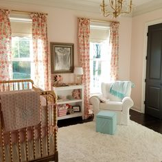 So Happy to be Here pink and mint nursery painted sherwin williams white dogwood
