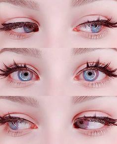 🐰It seems the moon is in your eyes🌙🌠 Anime Eye Makeup, Anime Eyes, Eyebrow Makeup, Makeup Eyes, Pretty Eyes, Cool Eyes, Beautiful Eyes, Aesthetic Eyes, Aesthetic Makeup