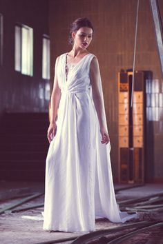 Caped wedding gown