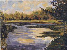 Sir Winston Churchill - Lake Near Breccles in Autumn