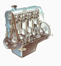 Engine trouble?  Get an overview of how a car engine uses a compressed fuel mixture and a spark to generate power.  With illustrations of the cylinder, block and crankcase.