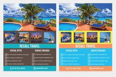 Tour Travel Agency Flyer Template by PenciAuthor on @creativemarket