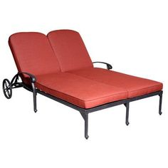 Roma Double Chaise Lounge with Cushion - http://delanico.com/chaise-lounges/roma-double-chaise-lounge-with-cushion-625656572/