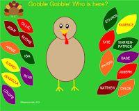 Free Thanksgiving Turkey Smartboard Attendance Slides | SmartBoardLessons.BlogSpot.com