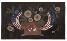 MAGGIE BONANOMI Glory Be!, Wool Applique Kit for Patriotic Wallhanging with a Finished Size, 15 x 27 - Pattern is included in this Americana