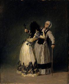 Goya en El Prado: La duquesa de Alba y su dueña. I thought this little painting was amusing. I wonder what the story behind it is.