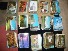 Huge Estate Lot of Over 1800 Vintage  Postcards 40's-80's from All Around World