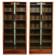 Pair of Carlo Scarpa Zibaldone Bookcases by Bernini For Sale at 1stdibs