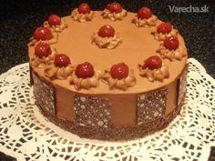 Čokoládovo-višňová torta (fotorecept)