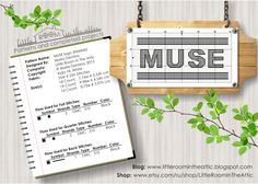 Little room in the attic by Maria Demina: MUSE music band logo free cross stitch chart / pattern