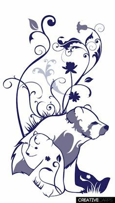 momma bear and cubs tattoo Baby Bear Tattoo, Cubs Tattoo, Bear Tattoos, Mom Tattoos, Tatoos, Tribal Bear Tattoo, Ship Tattoos, Bear Watercolor, Watercolor Images