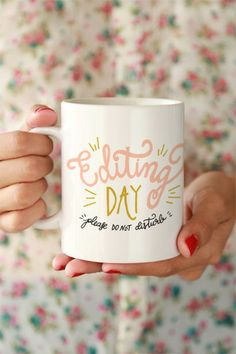 Editing Day Mug from Click & Blossom