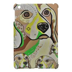 Beagle and Babies Brown Tones Case For The iPad Mini - baby gifts giftidea diy unique cute