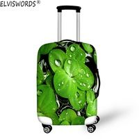 HUGS IDEA 22//24//26 Inch Maple Leaves Print Elastic Suitcase Cover for Travel Stretch Luggage Cover