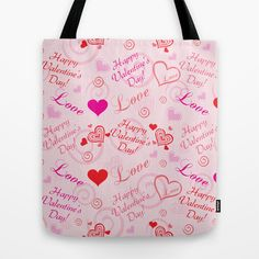 Happy Valentine's Day Tote Bag by refreshdesign