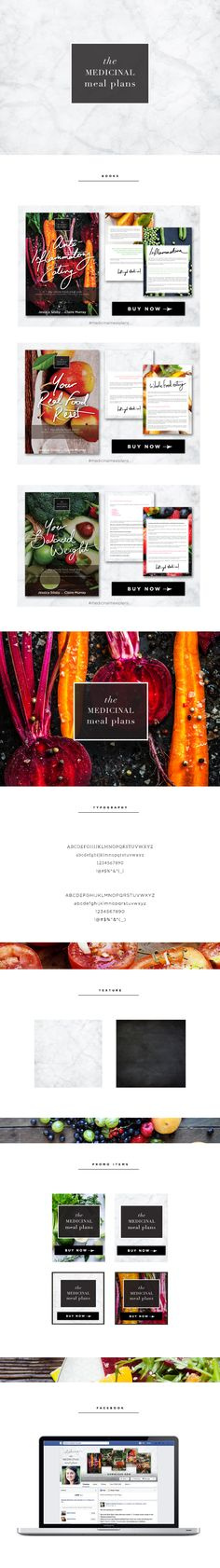 The Medicinal Meal Plans : branding and ebook design by Vari Longmuir at Buttercup Ink. Like my style? Click for more info >> http://www.buttercupink.com/wp-content/uploads/2014/11/LuxeBranding_TheDetails_Nov14.pdf #handlettering #graphicdesign #ebook