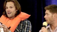 Supernatural Vancouver Aug 2012 - J & J bidding - bidding for Jensen & his surprise and delight!