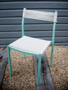 DIY ROPE WRAPPED CHAIR (FROM AN OLD OFFICE CHAIR!)