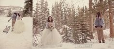 I love this photographers style - a wedding in the snow - rustic and so unusual. Ski Wedding, Snowy Wedding, Winter Wonderland Wedding, Wedding Wishes, Wedding Looks, Wedding Groom, Perfect Wedding, Dream Wedding, Winter Wedding Inspiration