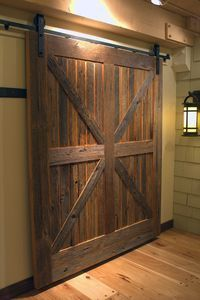 Sliding barn doors can be contemporary or even modern in design, and create an amazing and creative opening in the home.