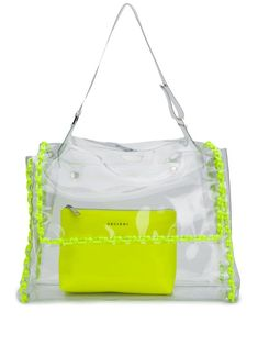 Orciani Fluo clear tote - Yellow Brand You, Gym Bag, Women Wear, Pouch, Shoulder Bag, More, Leather, Bags, Front Row