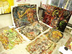 mixed stuff Painting, Art, Painting Art, Paintings, Kunst, Paint, Draw, Art Education, Artworks