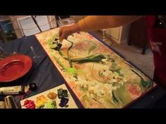 Paint Flowers with Sponge Brush #1 of 2 by Marge Kinney - YouTube